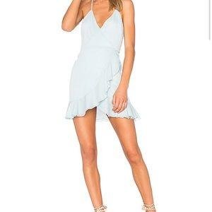 Lovers+ friends sky blue wrap dress